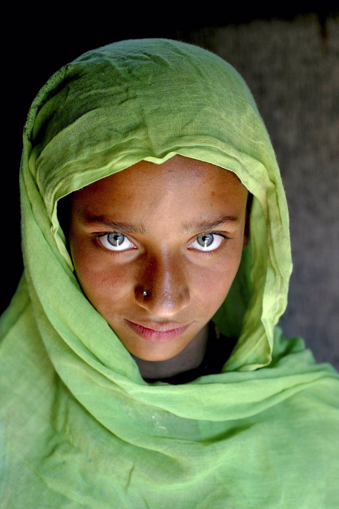 Stock Photo: 1566-978742 Young girl in Saidpur, Kashmir, Pakistan On 8 october 2005, a severe earthquake hit Northern Pakistan Pakistan controlled Kashmir More than 70,000 people died and 3 million people where homeless Widespread destruction led to major relief operations try
