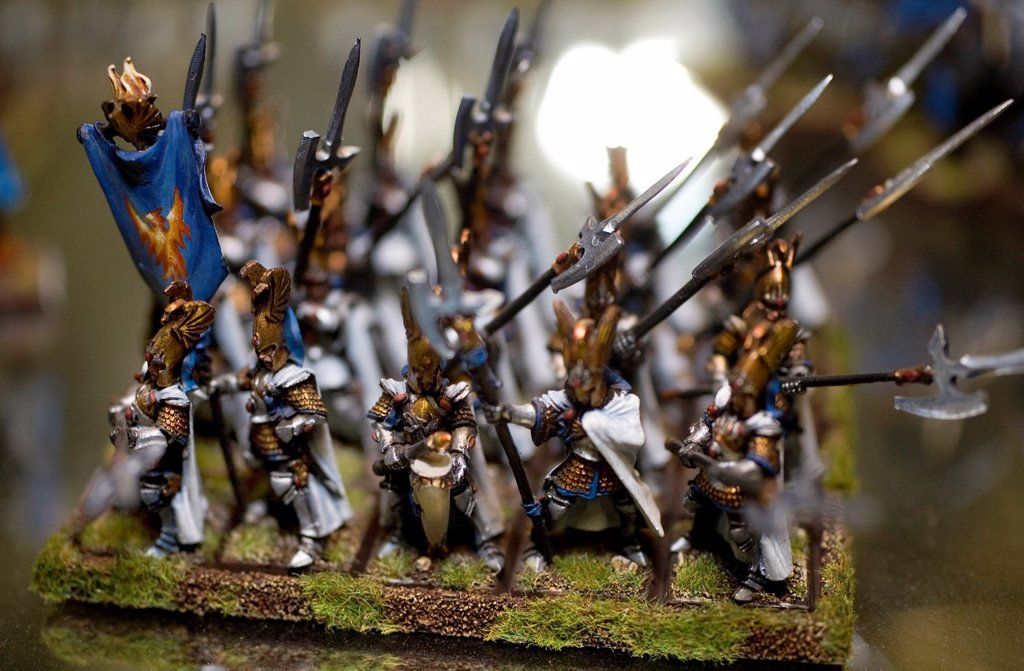 Stock Photo: 1566-979315 Games Workshop is originally from England but now also very popular in the Netherlands It is a game that consists of miniature dolls armies made of tin and plastic that you own together and paint You consider war with puppets on a special setting Not only
