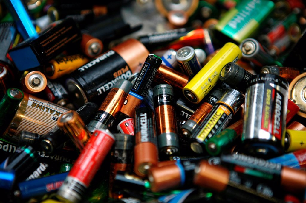 Stock Photo: 1566-979364 Recycling of batteries All municipalities in The Netherlands are required to provide known collection points for recyclable and/or hazardous materials All types of separated trash can be accepted here for free or a small sum depending on type of material