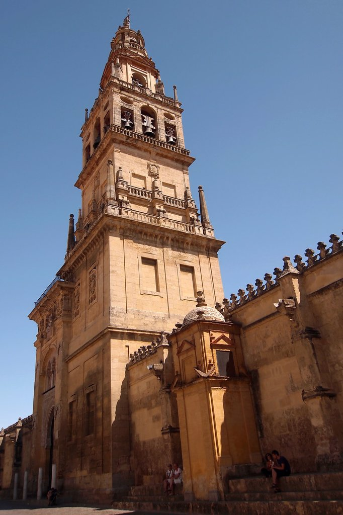 Stock Photo: 1566-979581 Minaret Tower- Bell Tower, Cathedral of our Lady of the Assumption Great Mosque of Córdoba, Cordoba, Andalusia, Spain,, Europe
