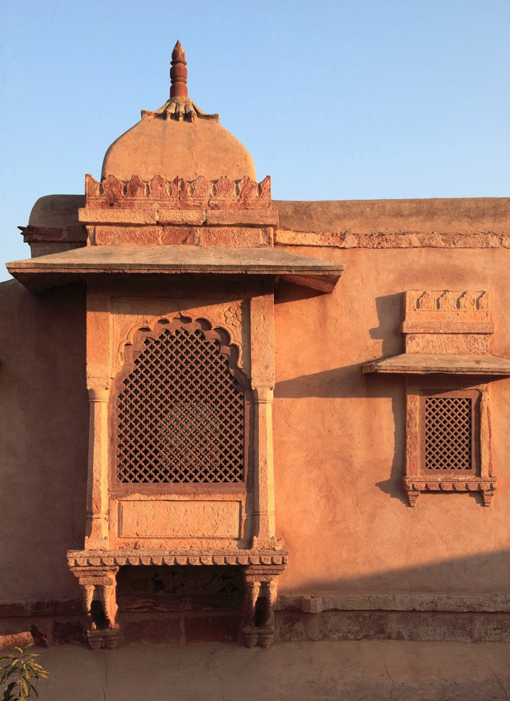 Stock Photo: 1566-979717 India, Rajasthan, Nagaur, Ahhichatragarh Fort, Fort of the Hooded Cobra,