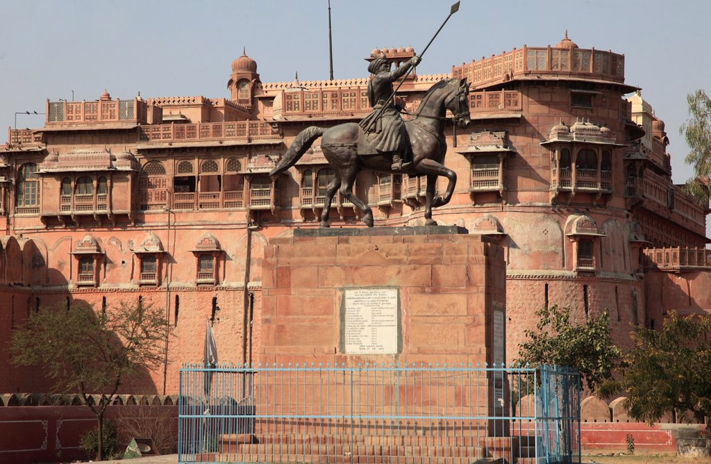 Stock Photo: 1566-979743 India, Rajasthan, Bikaner, Junagarh Fort,