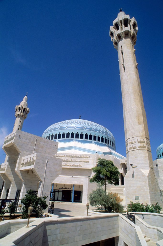 Jordan Amman King Abdullah mosque : Stock Photo