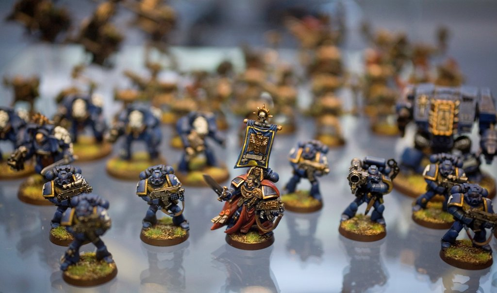 Stock Photo: 1566-980244 Games Workshop is originally from England but now also very popular in the Netherlands It is a game that consists of miniature dolls armies made of tin and plastic that you own together and paint You consider war with puppets on a special setting Not only