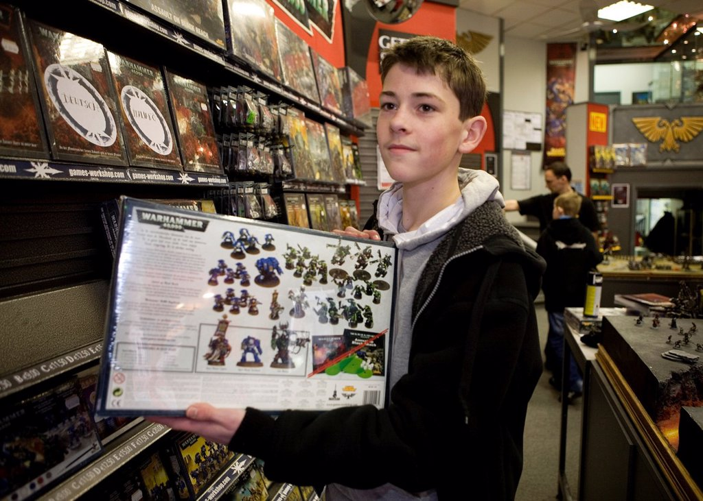 Games Workshop is originally from England but now also very popular in the Netherlands It is a game that consists of miniature dolls armies made of tin and plastic that you own together and paint You consider war with puppets on a special setting Not only : Stock Photo
