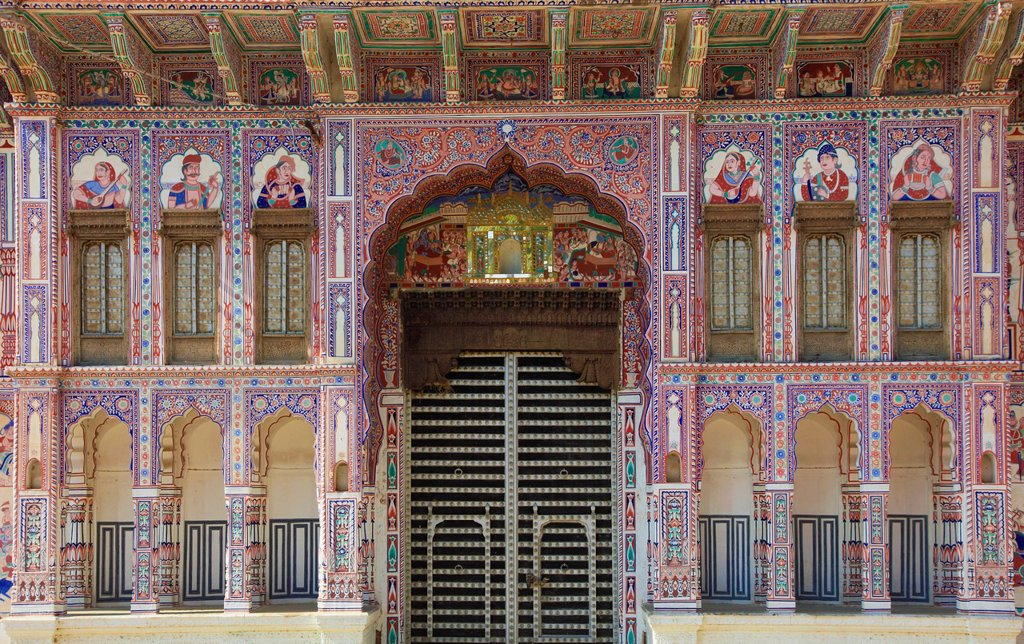 Stock Photo: 1566-980706 India, Rajasthan, Shekhawati, Fatehpur, Jagannath Singhania Haveli,