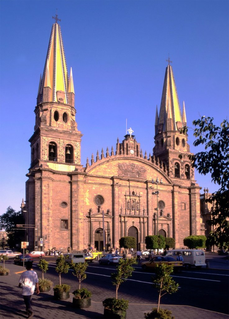Stock Photo: 1566-980825 Mexico, Jalisco, Guadalajara, cathedral