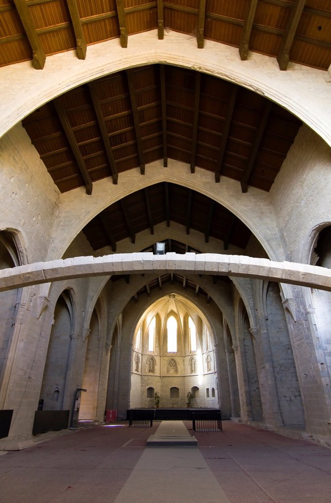 Stock Photo: 1566-981091 Interior of the Convent of San Francisco– Morella – Els Ports - Castellon province – Comunidad Valenciana – Spain - Europe