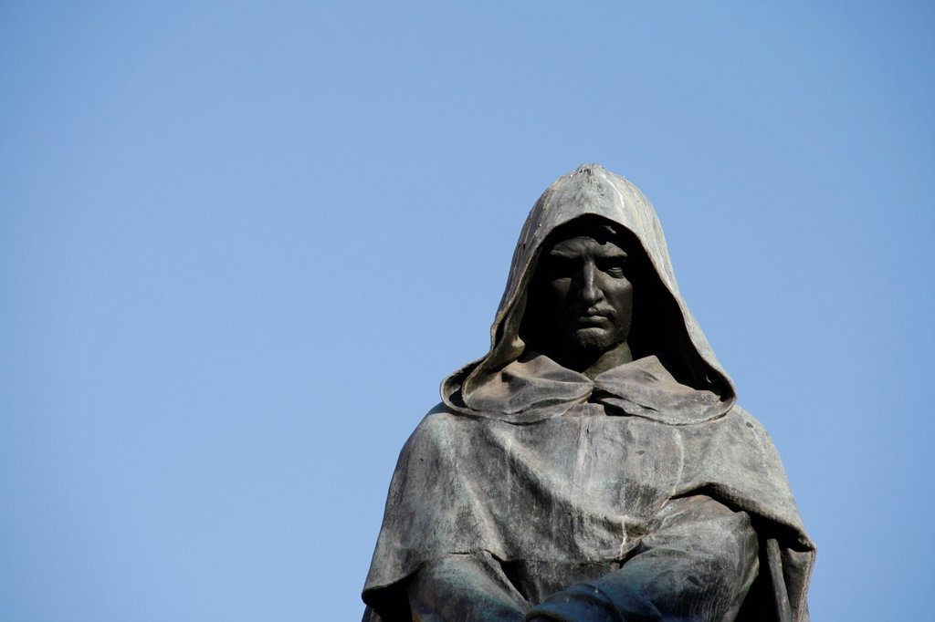 giordano bruno statue in campo de fiori rome : Stock Photo