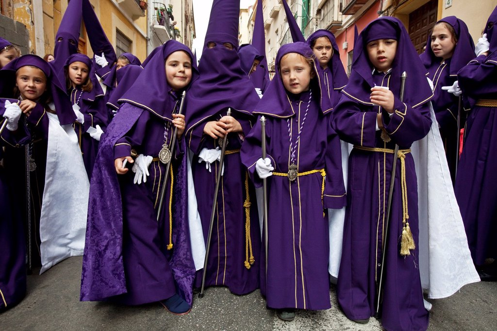 Stock Photo: 1566-983740 Semana Santa Holy Week Malaga, Andalusia, Spain