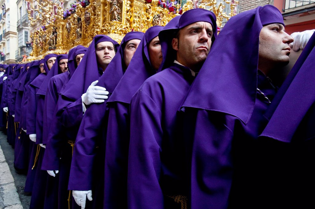 Stock Photo: 1566-983741 Semana Santa Holy Week Malaga, Andalusia, Spain