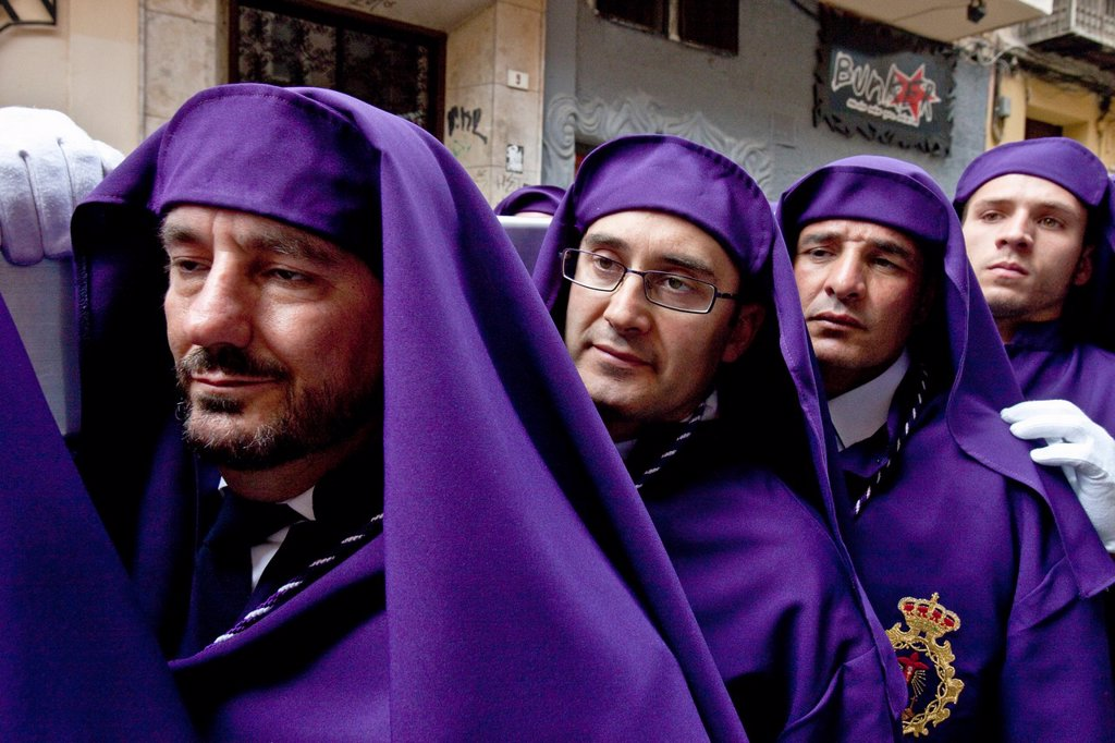 Stock Photo: 1566-983744 Semana Santa Holy Week Malaga, Andalusia, Spain