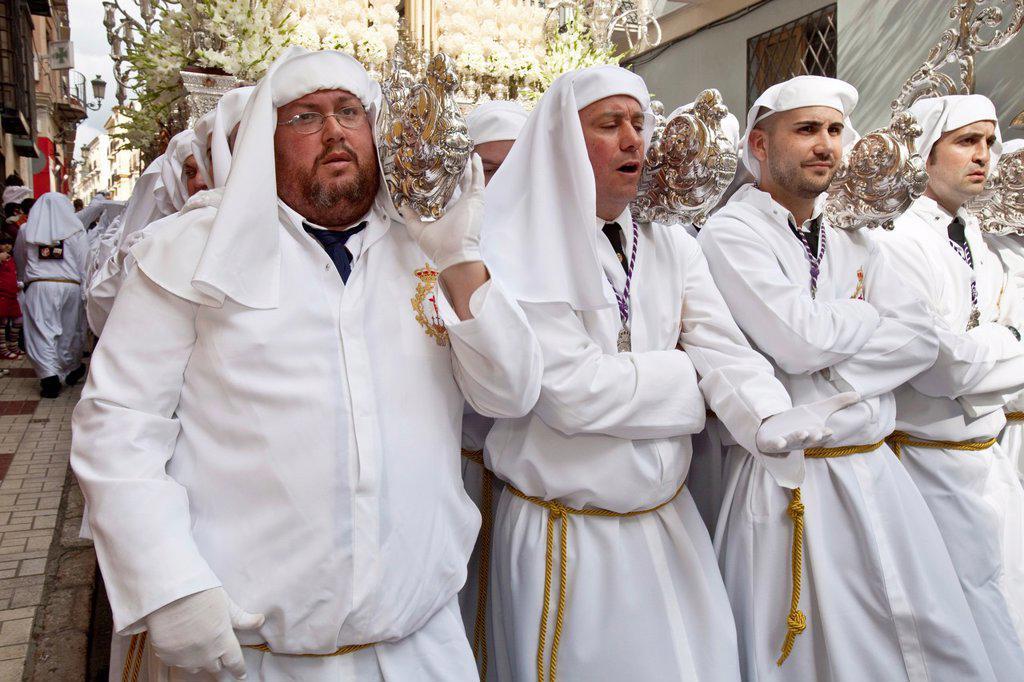 Stock Photo: 1566-983750 Semana Santa Holy Week Malaga, Andalusia, Spain