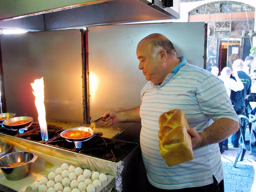 Stock Photo: 1566-983795 Israel, City of Tel Aviv, flea market , Doktor Chatchouka restaurant// Israel, ville de Tel Aviv, marche aux puces, restaurant du Doktor Chatchouka