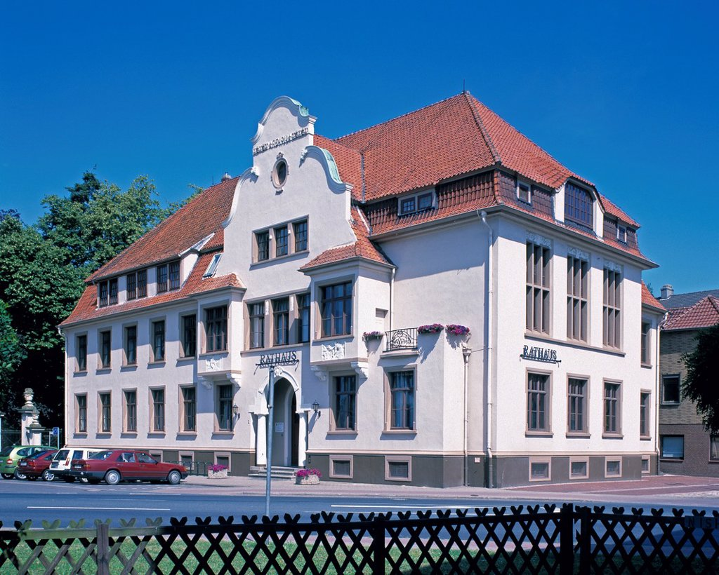 D-Hoya, Weser, Mittelweser, Niedersachsen, Rathaus, D-Hoya, Weser, Middle Weser region, Lower Saxony, city hall *** Local Caption *** D-Hoya, Weser, Middle Weser region, Lower Saxony, city hall : Stock Photo