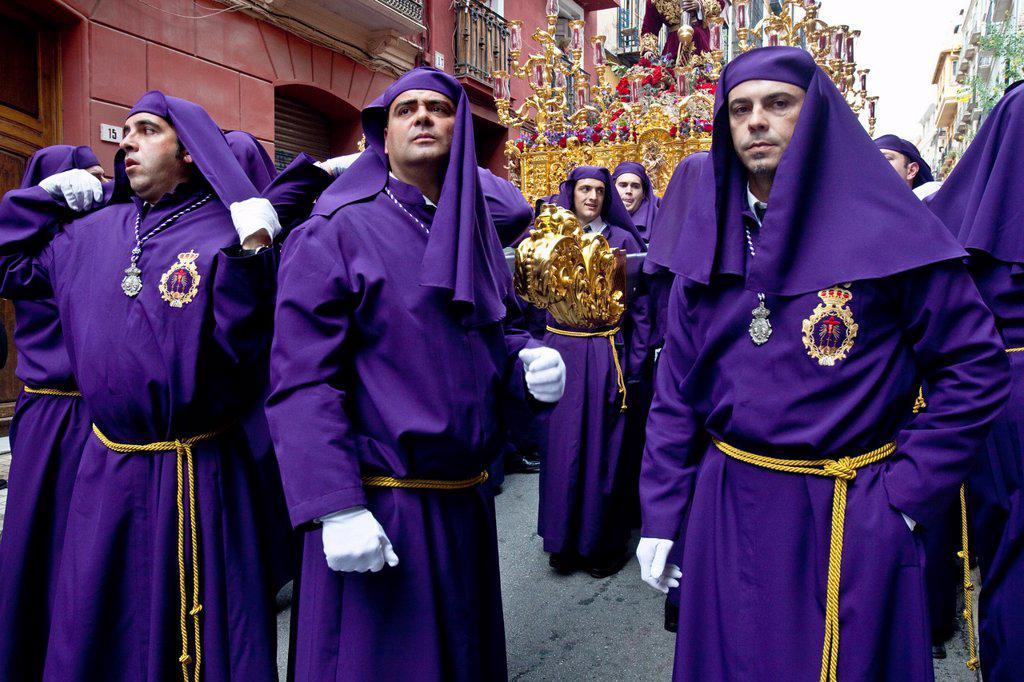 Stock Photo: 1566-984067 Semana Santa Holy Week Malaga, Andalusia, Spain