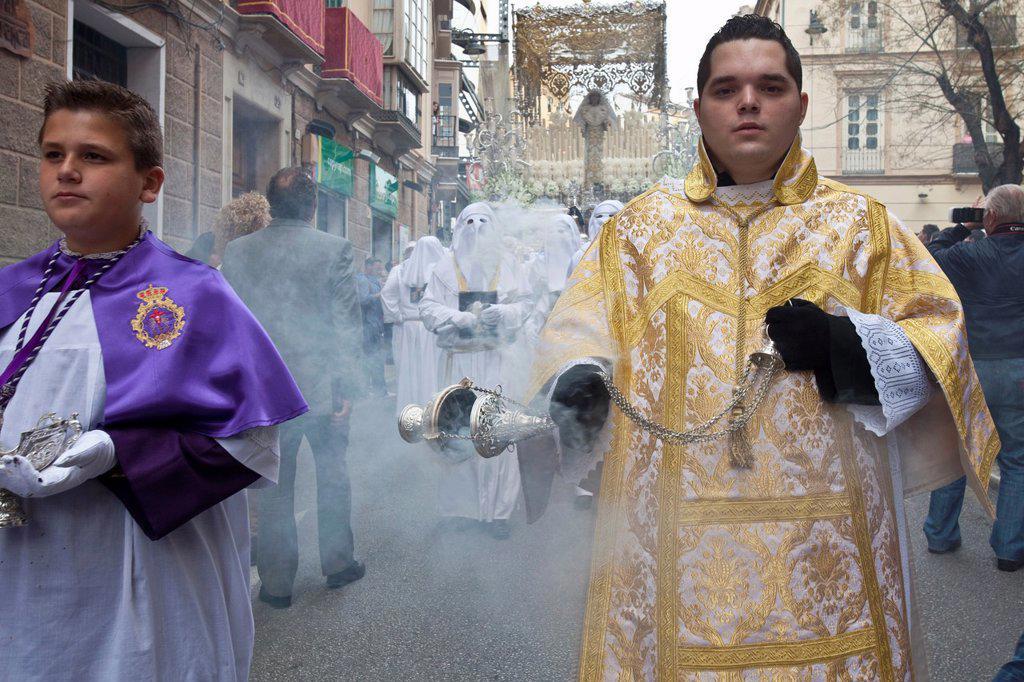 Semana Santa Holy Week Malaga, Andalusia, Spain : Stock Photo