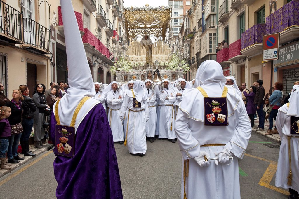 Semana Santa Holy Week Malaga, Andalusia, Spain : Stock Photo