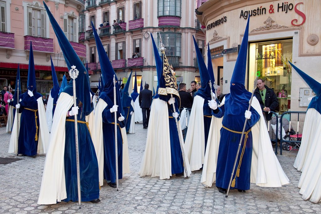 Stock Photo: 1566-984078 Semana Santa Holy Week Malaga, Andalusia, Spain