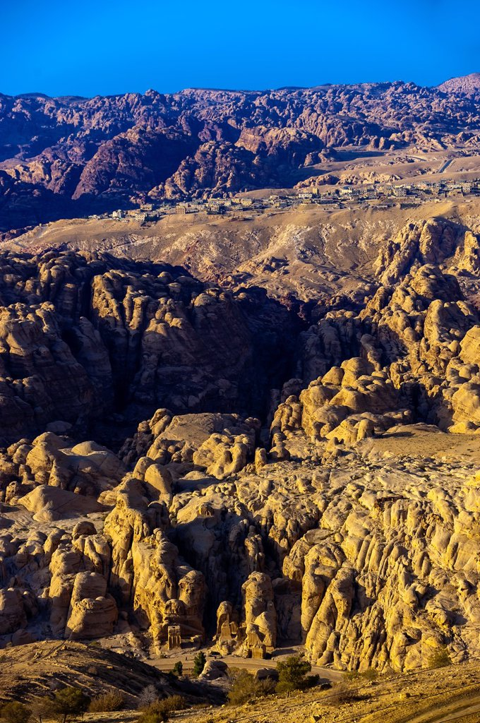 The city of Petra Wadi Musa, Jordan : Stock Photo