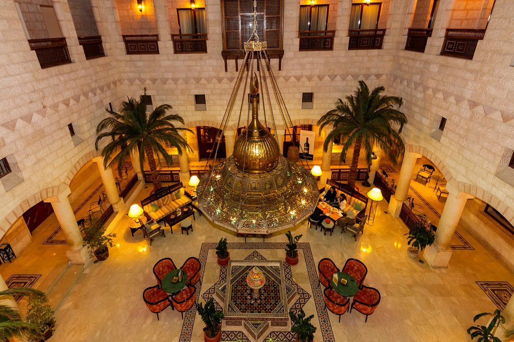 Stock Photo: 1566-984204 Overview of lobby area, Movenpick Resort Petra, Petra, Jordan