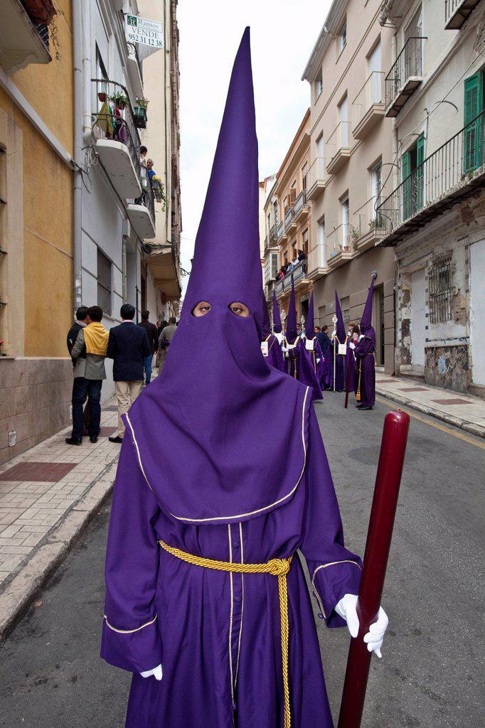 Stock Photo: 1566-984408 Semana Santa Holy Week Malaga, Andalusia, Spain