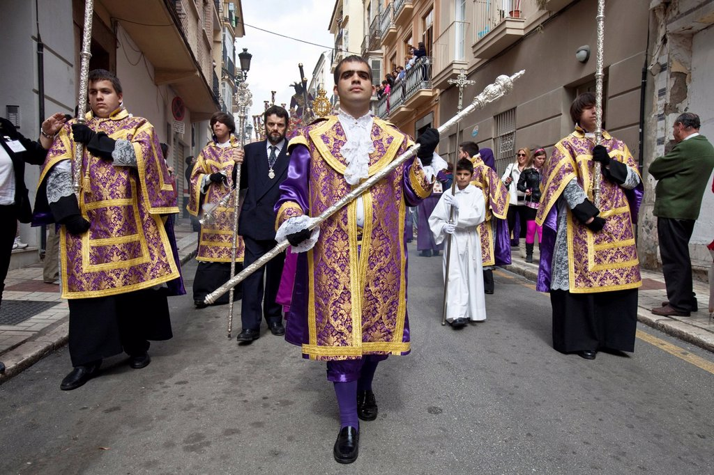 Stock Photo: 1566-984410 Semana Santa Holy Week Malaga, Andalusia, Spain