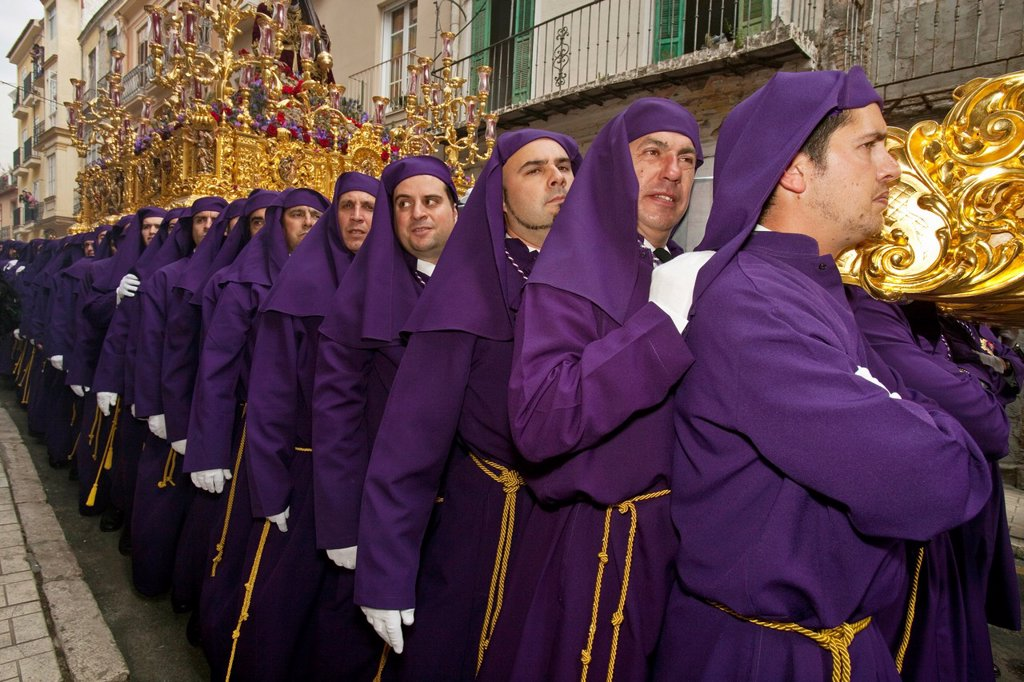 Stock Photo: 1566-984411 Semana Santa Holy Week Malaga, Andalusia, Spain
