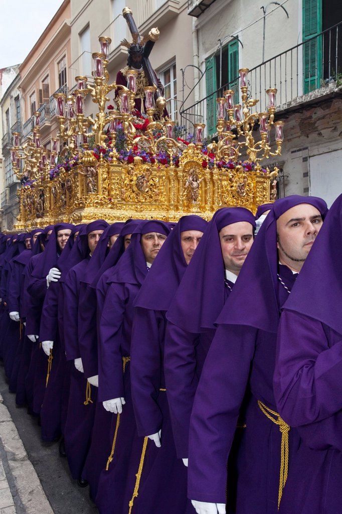Stock Photo: 1566-984412 Semana Santa Holy Week Malaga, Andalusia, Spain