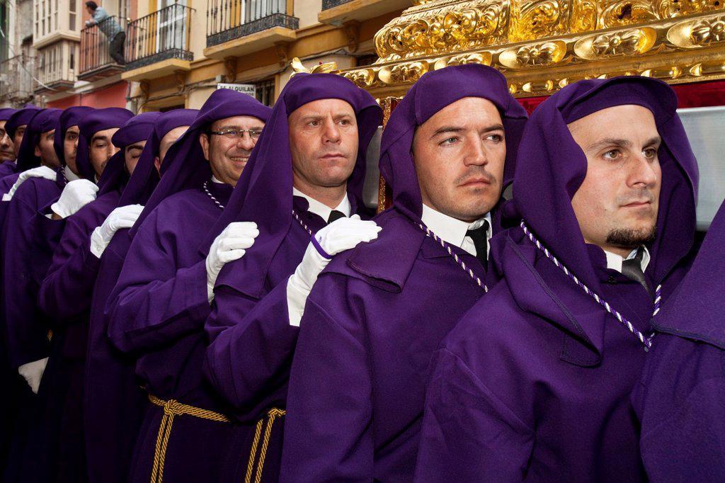 Stock Photo: 1566-984413 Semana Santa Holy Week Malaga, Andalusia, Spain