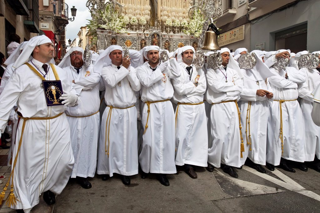 Stock Photo: 1566-984418 Semana Santa Holy Week Malaga, Andalusia, Spain