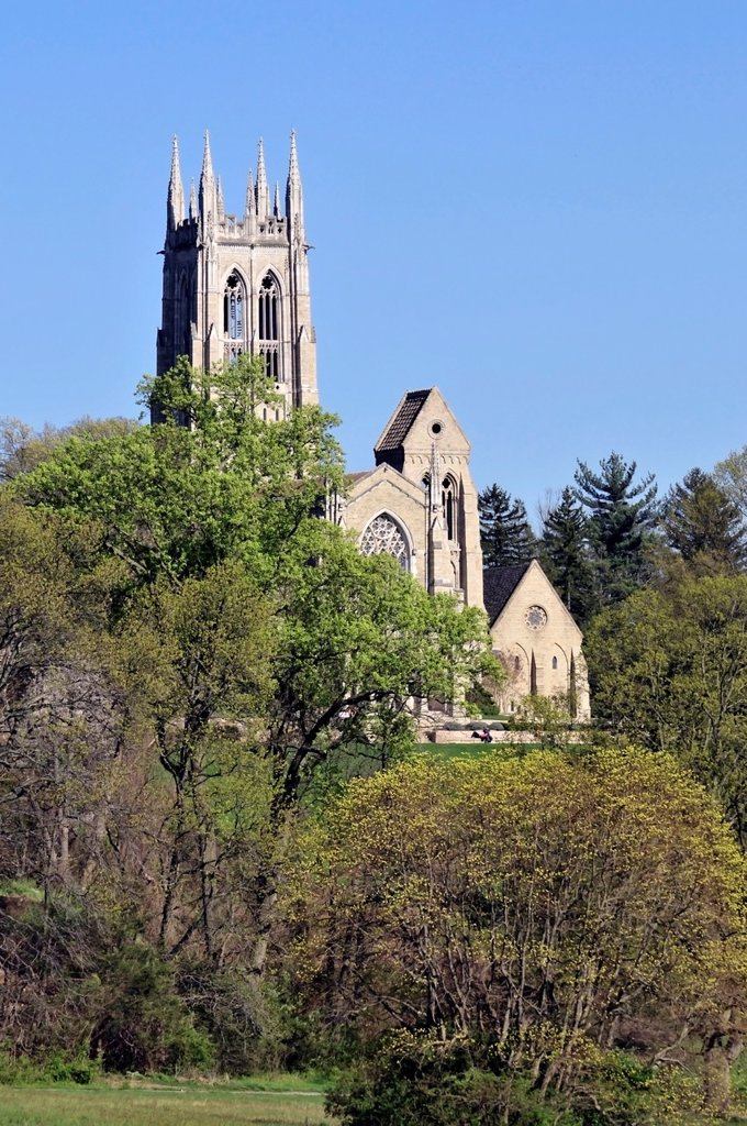 Stock Photo: 1566-984436 Top of Bryn Athyn cathedral, Historic District, PA, Pennsylvania, USA