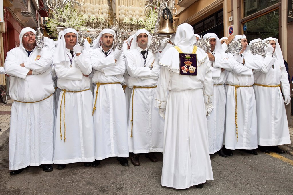 Stock Photo: 1566-984589 Semana Santa Holy Week Malaga, Andalusia, Spain