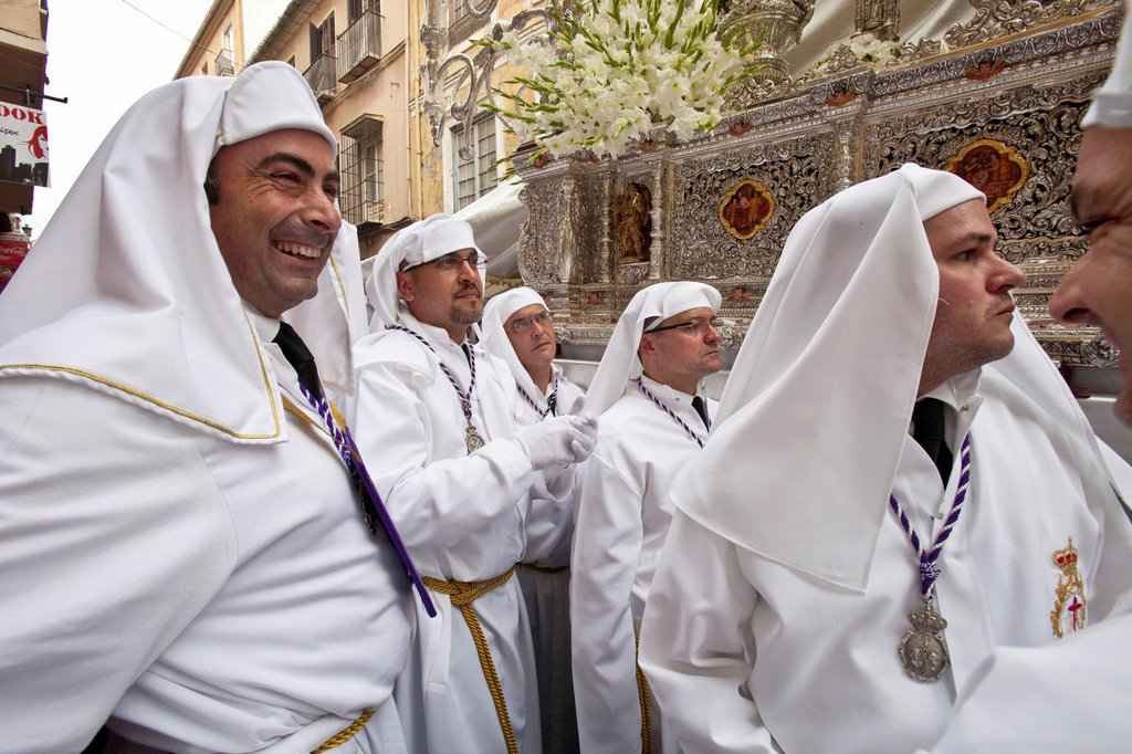 Stock Photo: 1566-984591 Semana Santa Holy Week Malaga, Andalusia, Spain