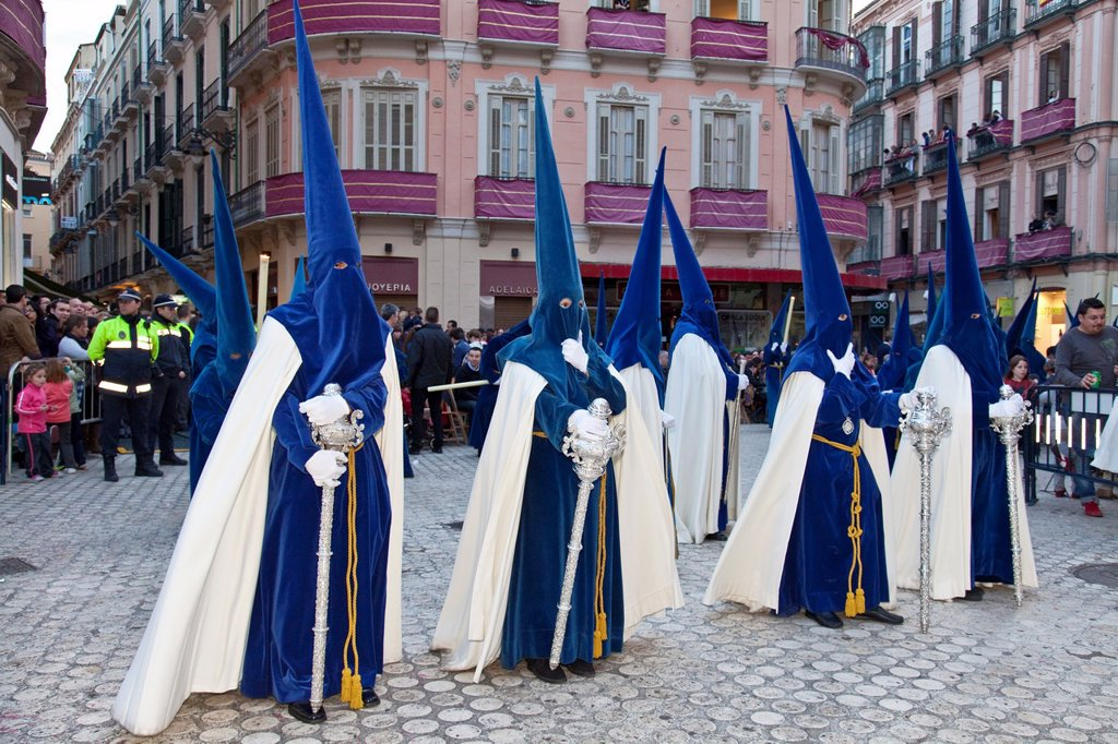 Stock Photo: 1566-984593 Semana Santa Holy Week Malaga, Andalusia, Spain