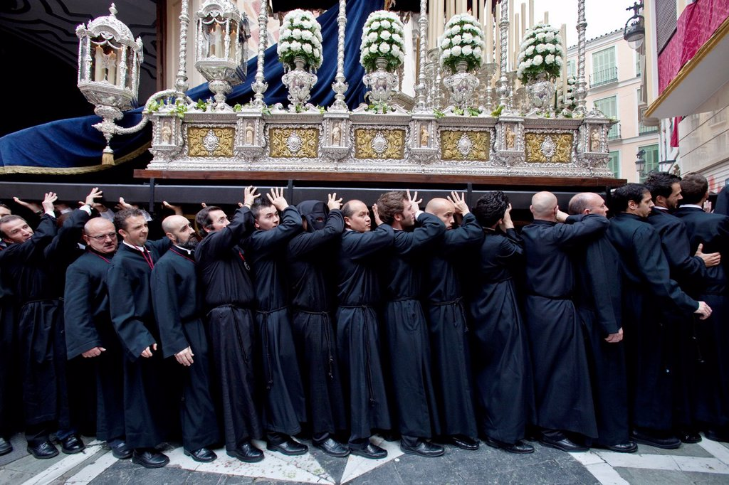 Stock Photo: 1566-984596 Semana Santa Holy Week Malaga, Andalusia, Spain