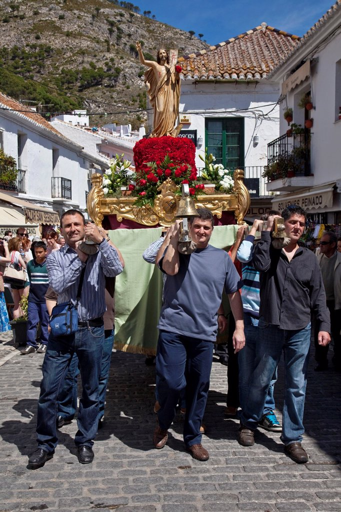 Stock Photo: 1566-984598 Semana Santa Holy Week Mijas, Andalusia, Spain