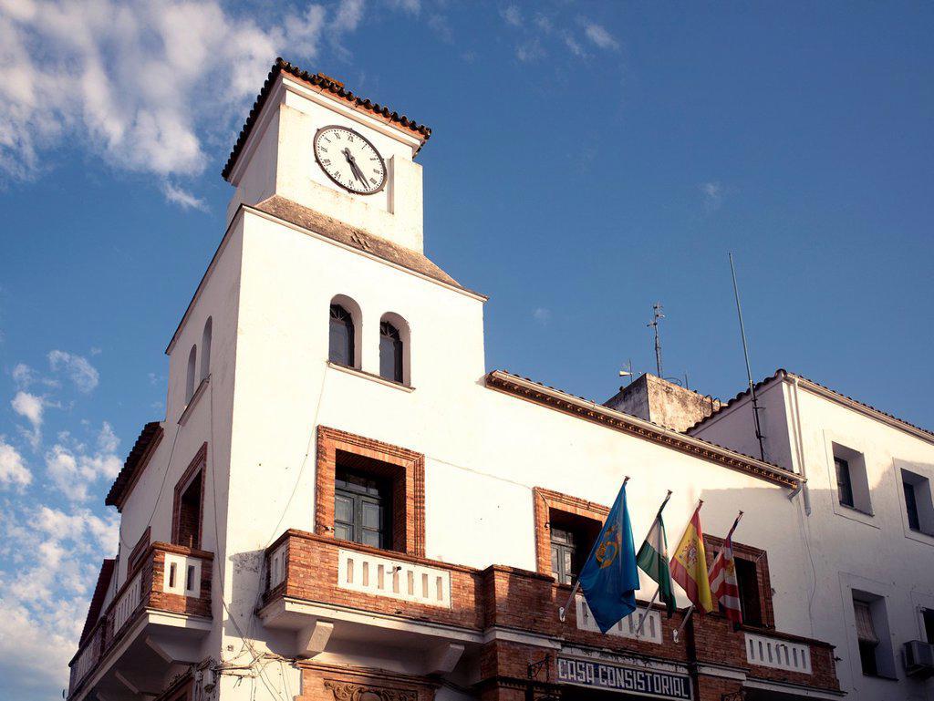 Stock Photo: 1566-984642 Ayuntamiento in Aroche, Sierra de Aracena y Picos de Aroche, Huelva province, Andalusia, Spain