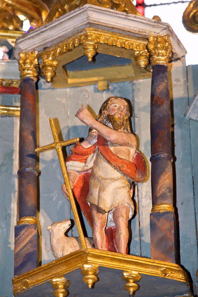 Saint Jean Baptist, church in perros guirec, armor Coast, brittany, France. : Stock Photo