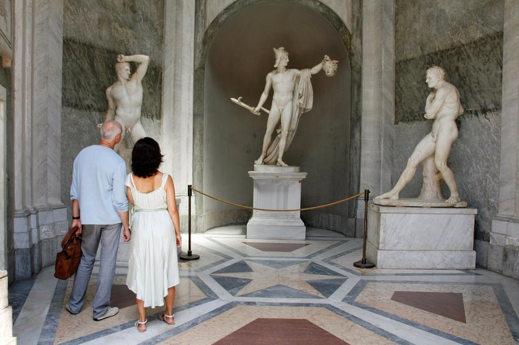 Stock Photo: 1566-985082 statues in the vatican museum, rome
