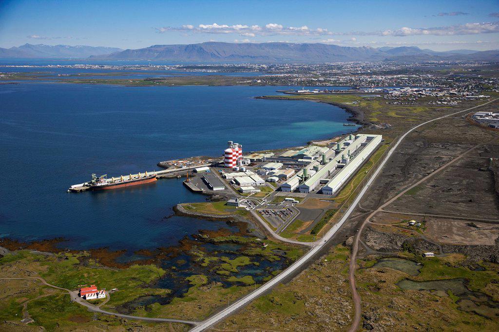 Stock Photo: 1566-985667 Aluminum Factory using geothermal energy, Iceland