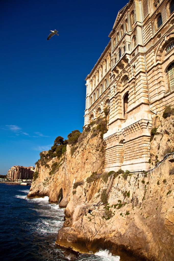 Musee Oceanographique in Le Rocher, Monaco : Stock Photo