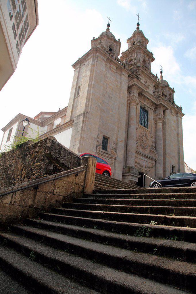 Parish Church Santiago, Santiago de Compostela, La Coruna, Galicia, Spain, Europe : Stock Photo
