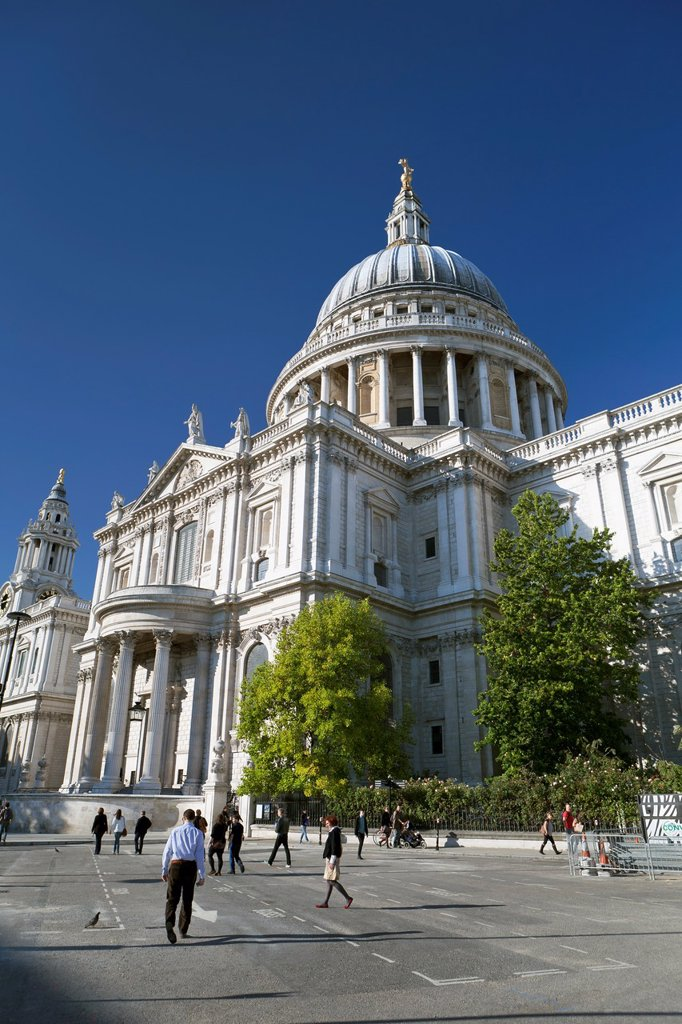 Stock Photo: 1566-987013 St Paul´s Cathedral, London, UK
