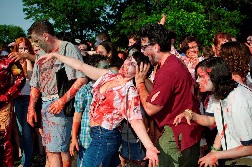 Zombies at the NYC Zombie Crawl, May 30, 2010  New York City, NY, USA : Stock Photo