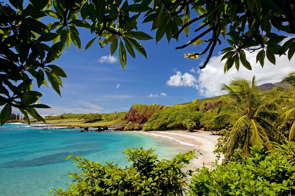 Stock Photo: 1566-988803 Beautiful day at Hamoa Beach, Maui, Hawaii