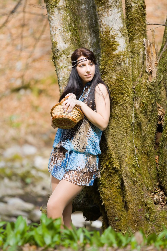 Stock Photo: 1566-989356 Young woman hippie style