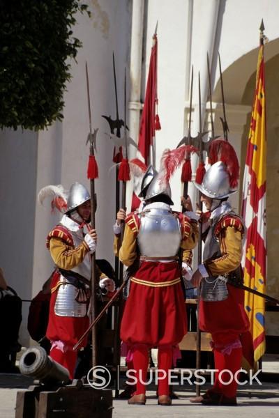 Stock Photo: 1566-989579 Valletta, Malta  Participants in Costume for Historic In Guardia Re-enactment, Fort Saint Elmo