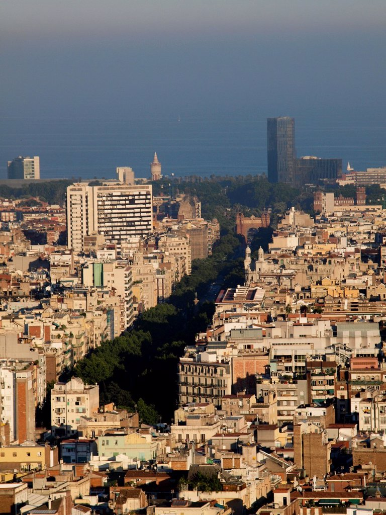 Cityscape, panormic. Barcelona, Catalonia, Spain. : Stock Photo