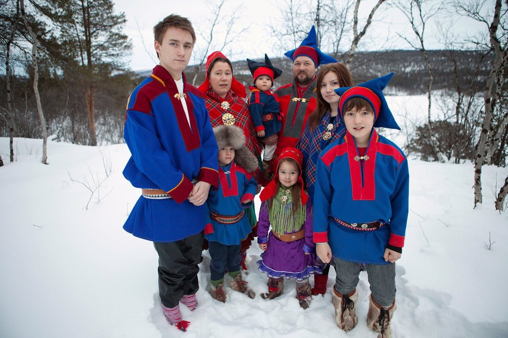 Stock Photo: 1566-990458 sami people in the north of Finland